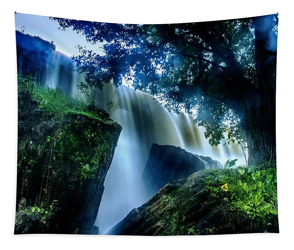 Waterfall Tapestry featuring the photograph Tranquility Falls by Mountain Dreams
