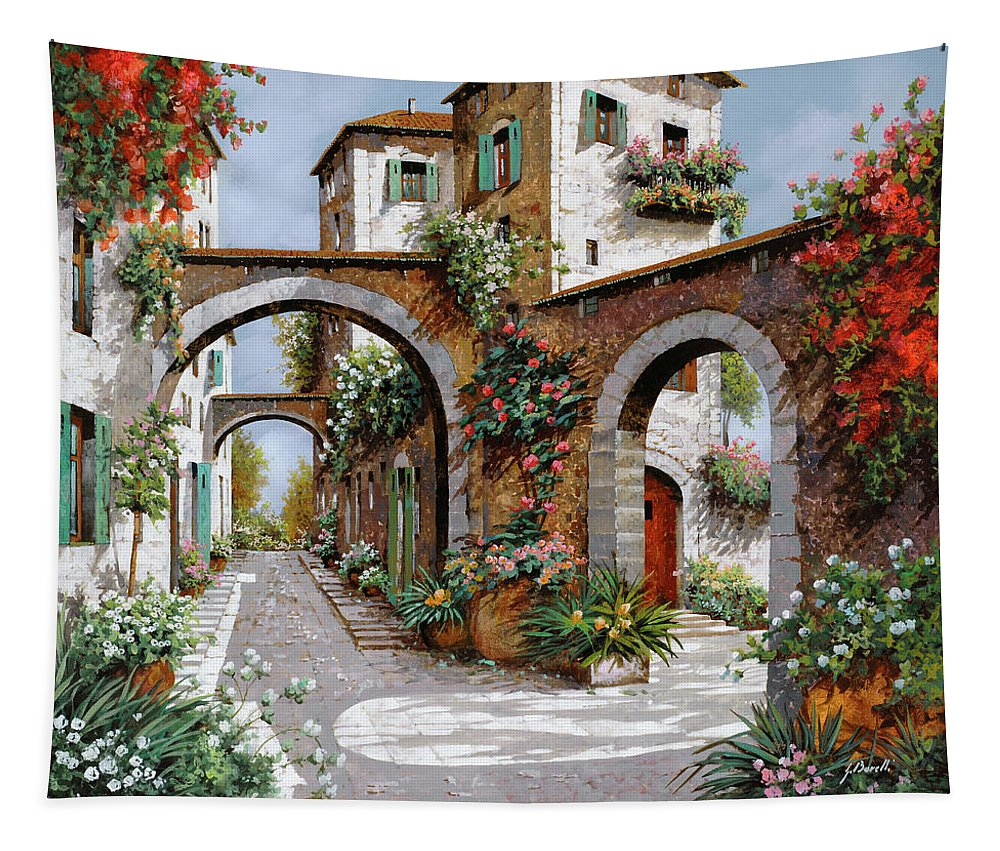 Arches Tapestry featuring the painting Tre Archi by Guido Borelli