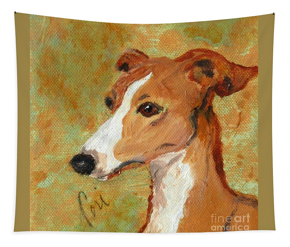 Acrylic Tapestry featuring the painting Treasured Moments by Cori Solomon