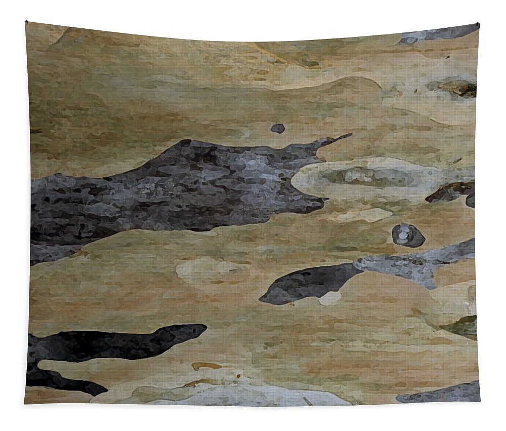 Botanical Abstract Tapestry featuring the photograph Tree Bark I by Ben and Raisa Gertsberg