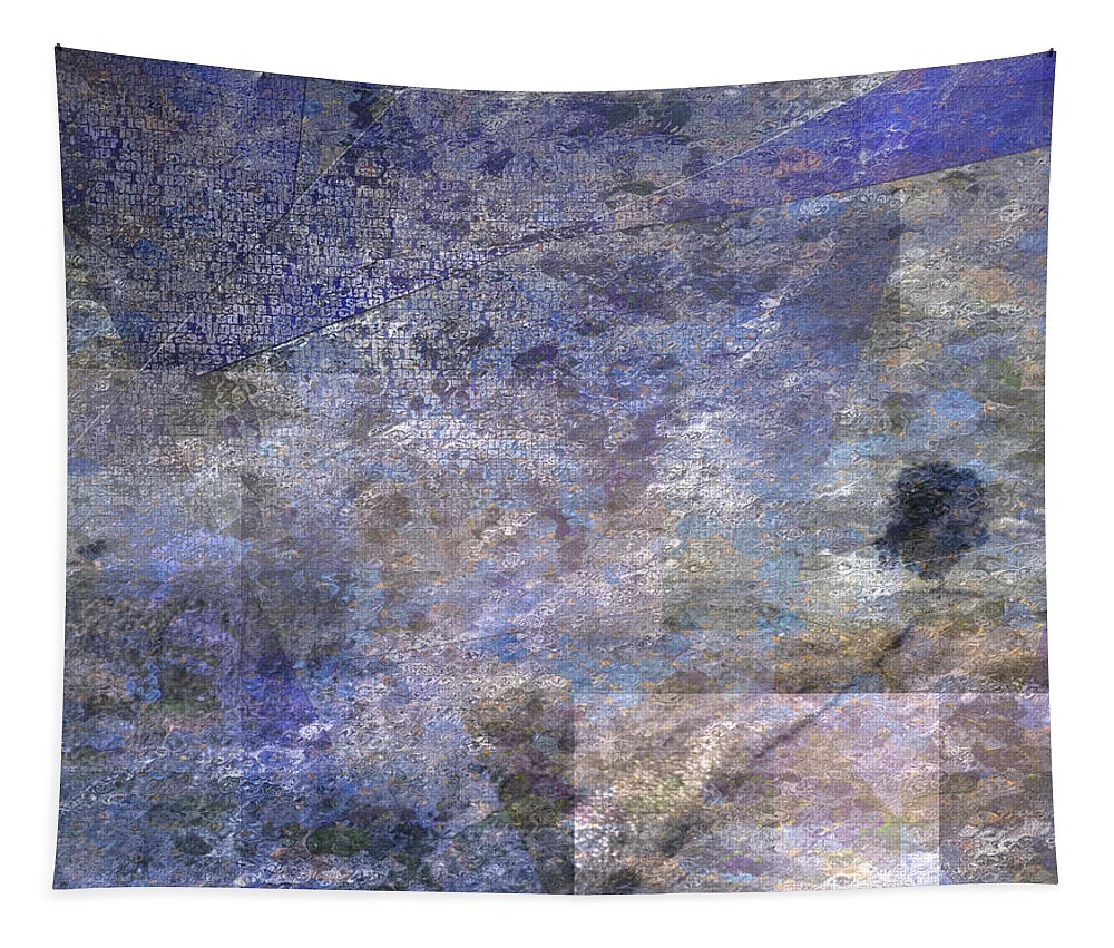 Impression Tapestry featuring the digital art Tree On Road by Bruce Rolff