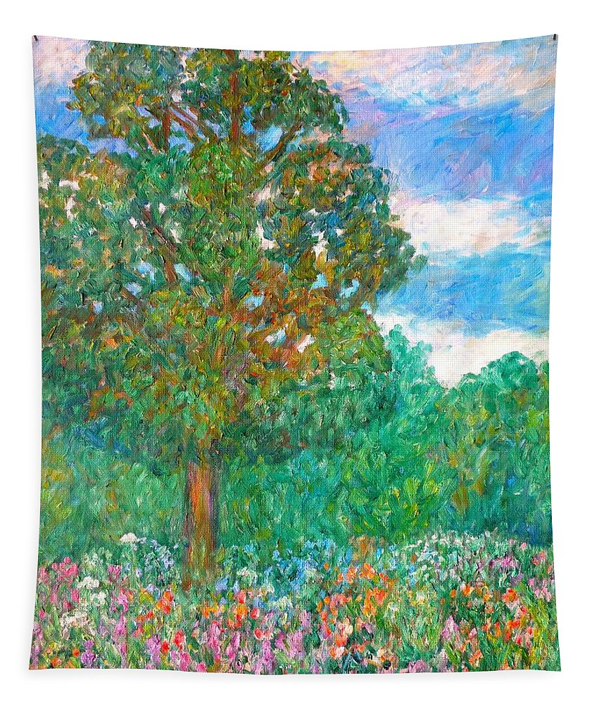Tree Tapestry featuring the painting Tree Poem by Kendall Kessler