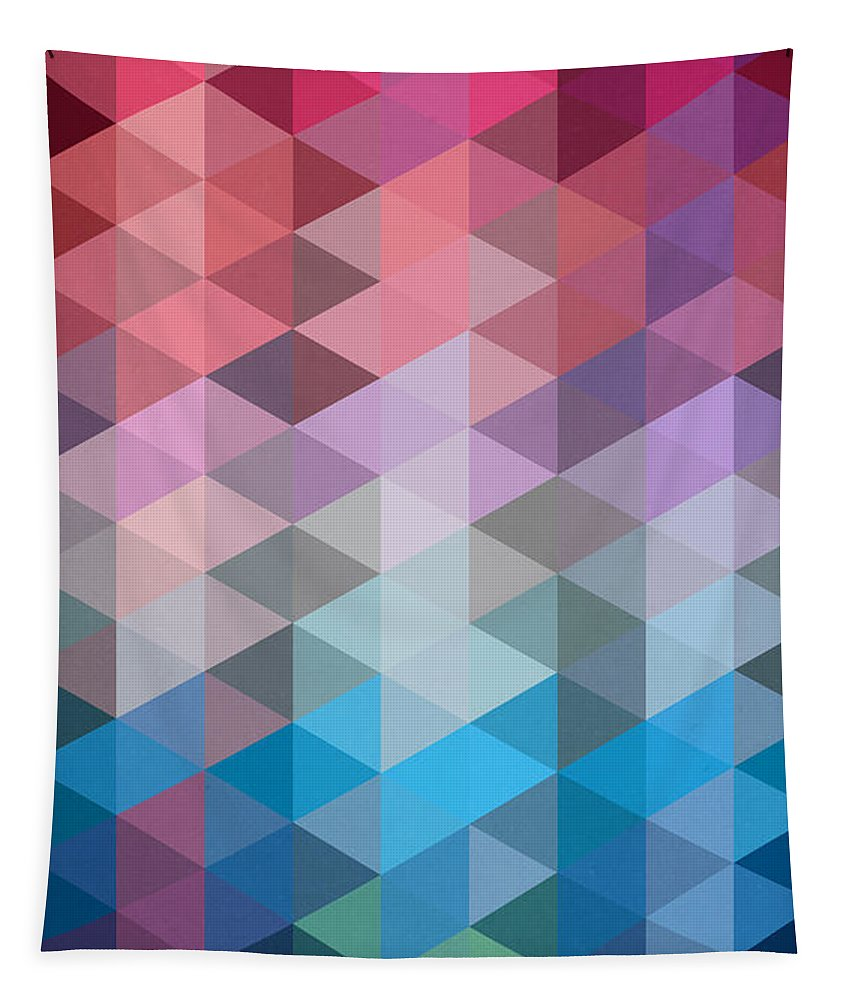 Contemporary Tapestry featuring the painting Triangles by Mark Ashkenazi