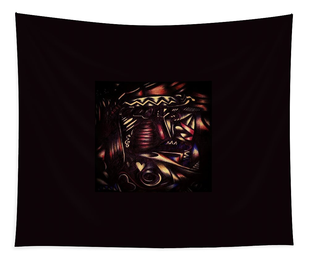 Room Tapestry featuring the photograph Tribal by Artist RiA