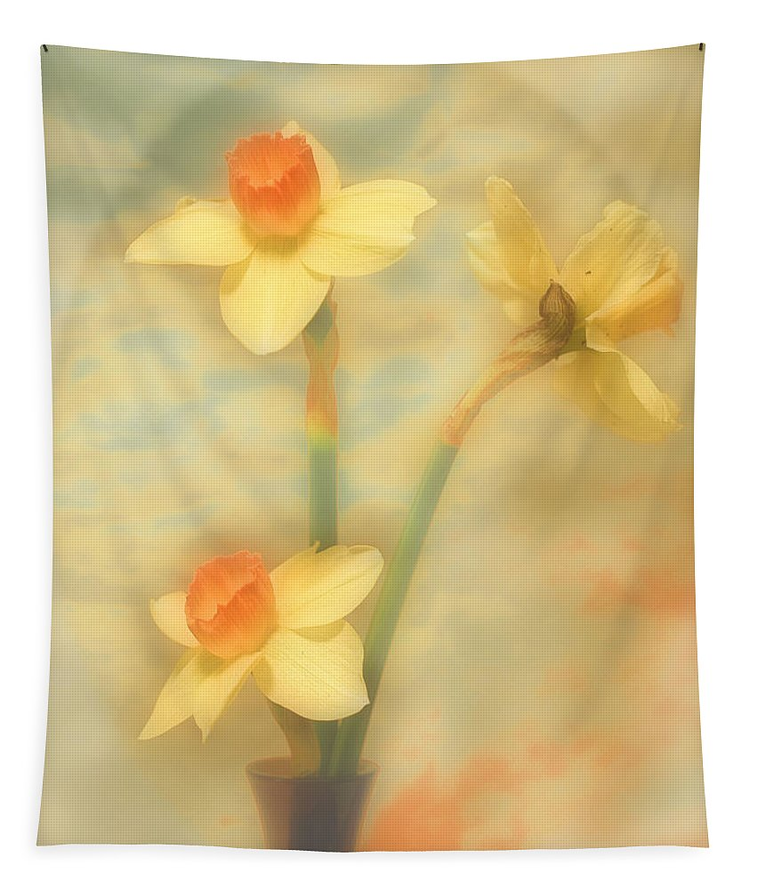 Flowers Tapestry featuring the photograph Trio by John Anderson