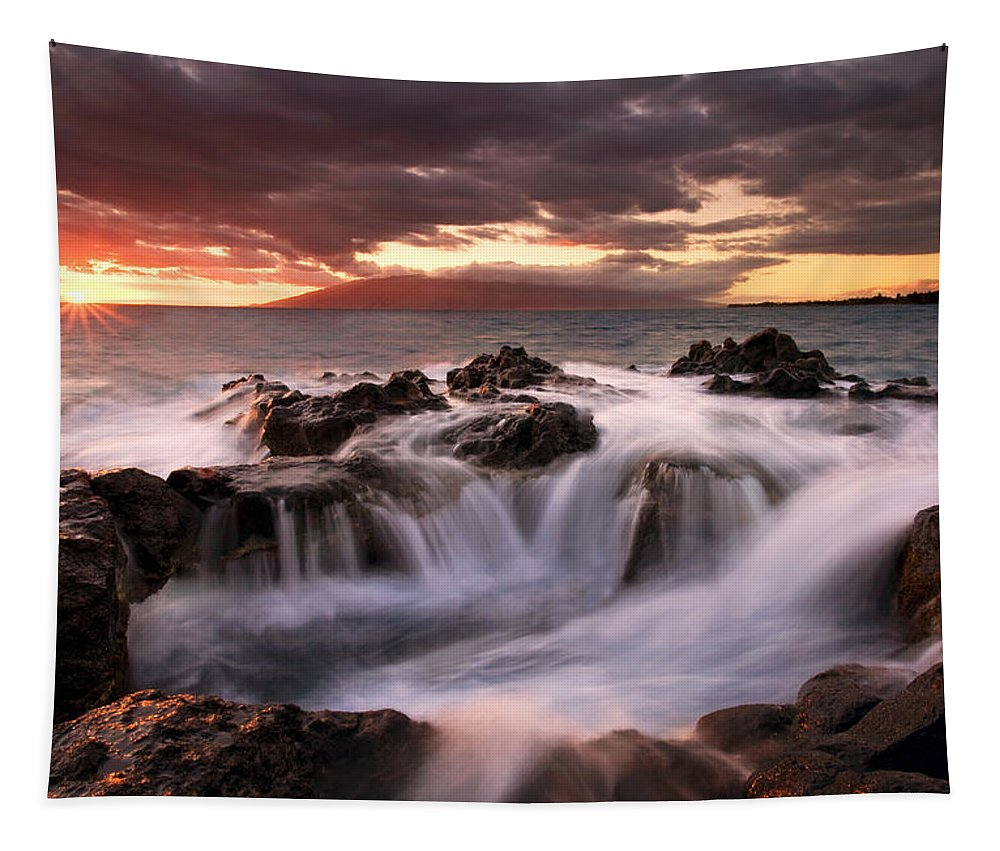 Hawaii Tapestry featuring the photograph Tropical Cauldron by Mike Dawson