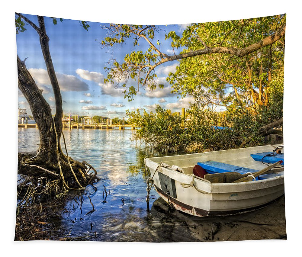 Of Tapestry featuring the photograph Tropical Dreams by Debra and Dave Vanderlaan