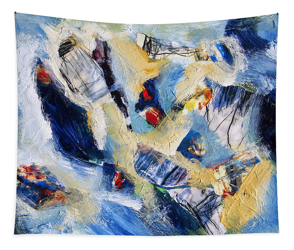Abstract Tapestry featuring the painting Tsunami 2 by Dominic Piperata