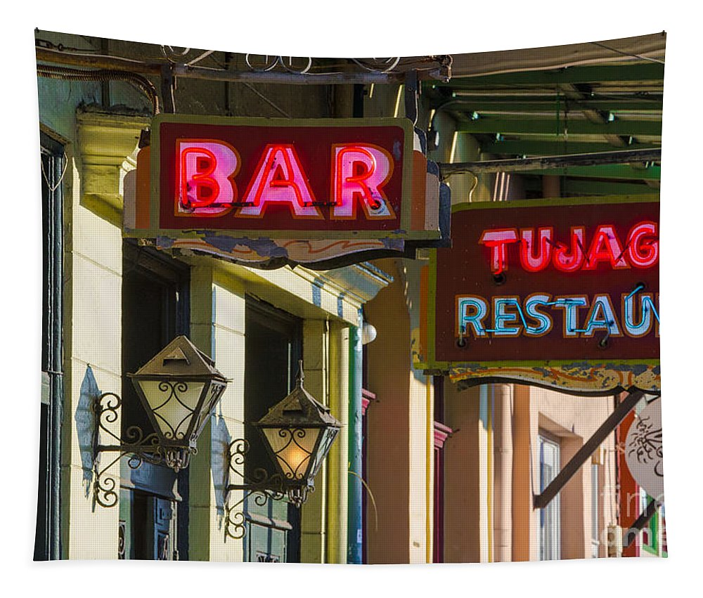 Bar Tapestry featuring the photograph Tujague's Bar And Restaurant by Jerry Fornarotto
