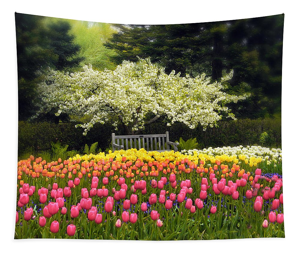 Flowers Tapestry featuring the photograph Tulip Garden by Jessica Jenney