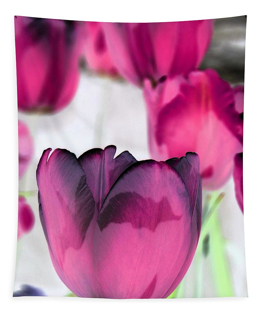 Tulip Tapestry featuring the photograph Tulips - Perfect Love - Photopower 2027 by Pamela Critchlow