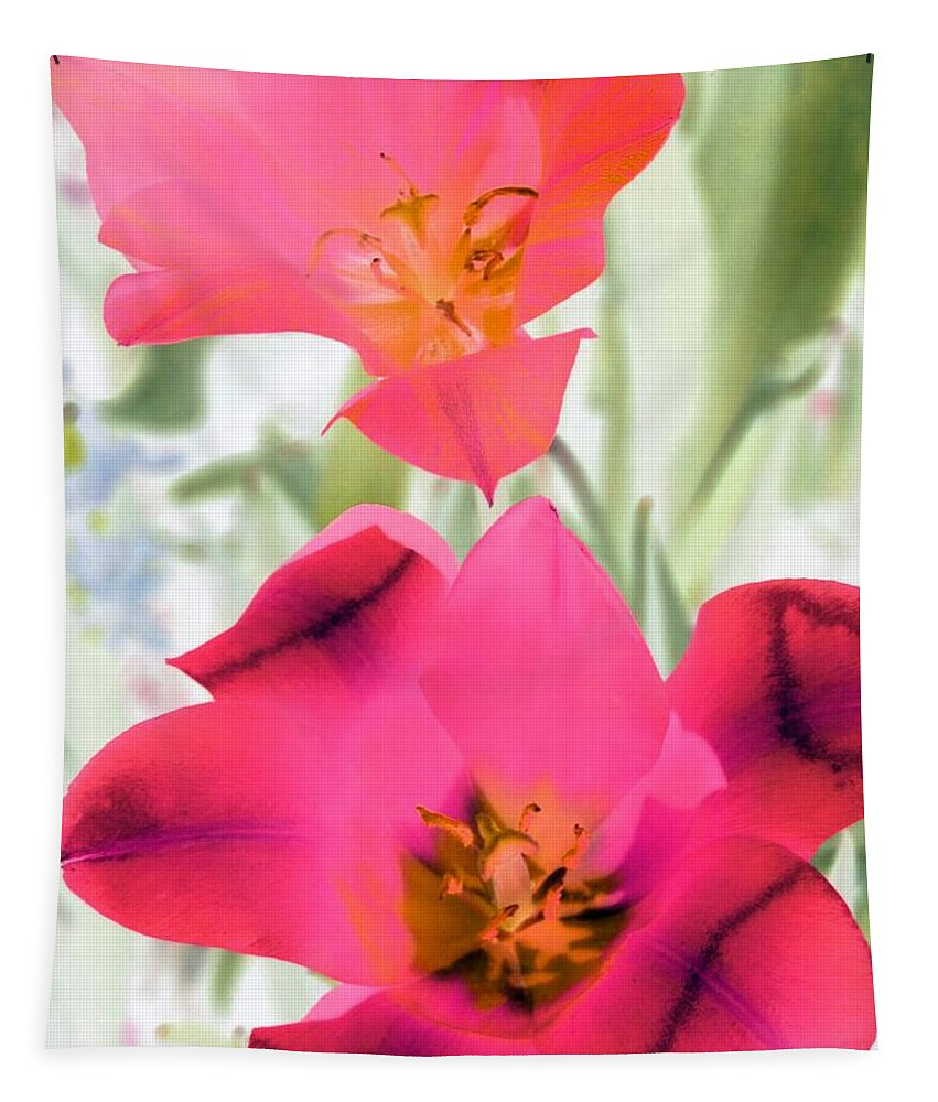 Tulip Tapestry featuring the photograph Tulips - Perfect Love - Photopower 2045 by Pamela Critchlow