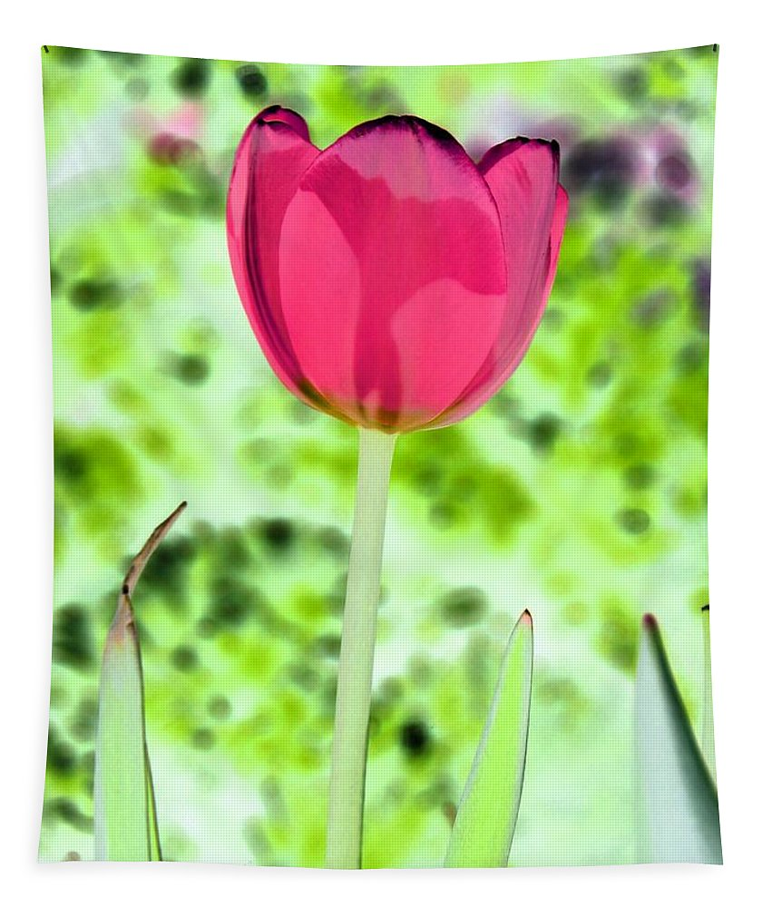 Tulip Tapestry featuring the photograph Tulips - Perfect Love - Photopower 2070 by Pamela Critchlow