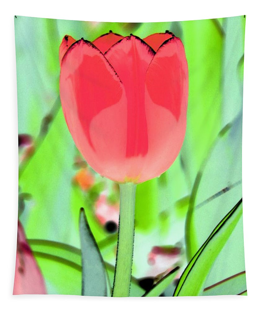 Tulip Tapestry featuring the photograph Tulips - Perfect Love - Photopower 2089 by Pamela Critchlow