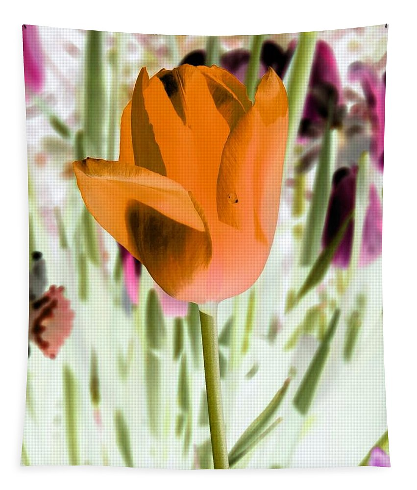 Tulip Tapestry featuring the photograph Tulips - Perfect Love - Photopower 2105 by Pamela Critchlow