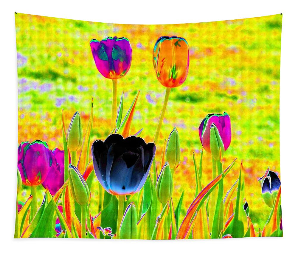 Tulip Tapestry featuring the photograph Tulips - Perfect Love - Photopower 2169 by Pamela Critchlow