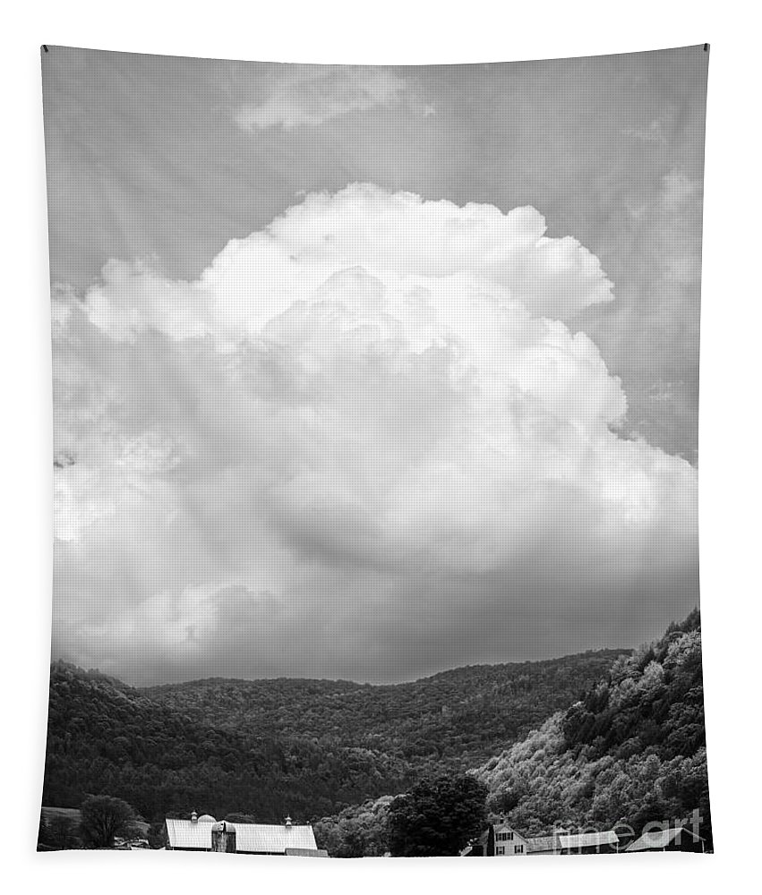 Vermont Tapestry featuring the photograph Tunbridge Vermont Storm Cloud Open Edition by Edward Fielding
