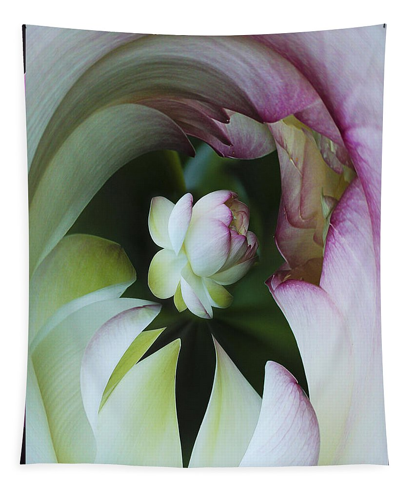 Flower Tapestry featuring the photograph Tunnel Of Lotus by Jean Noren