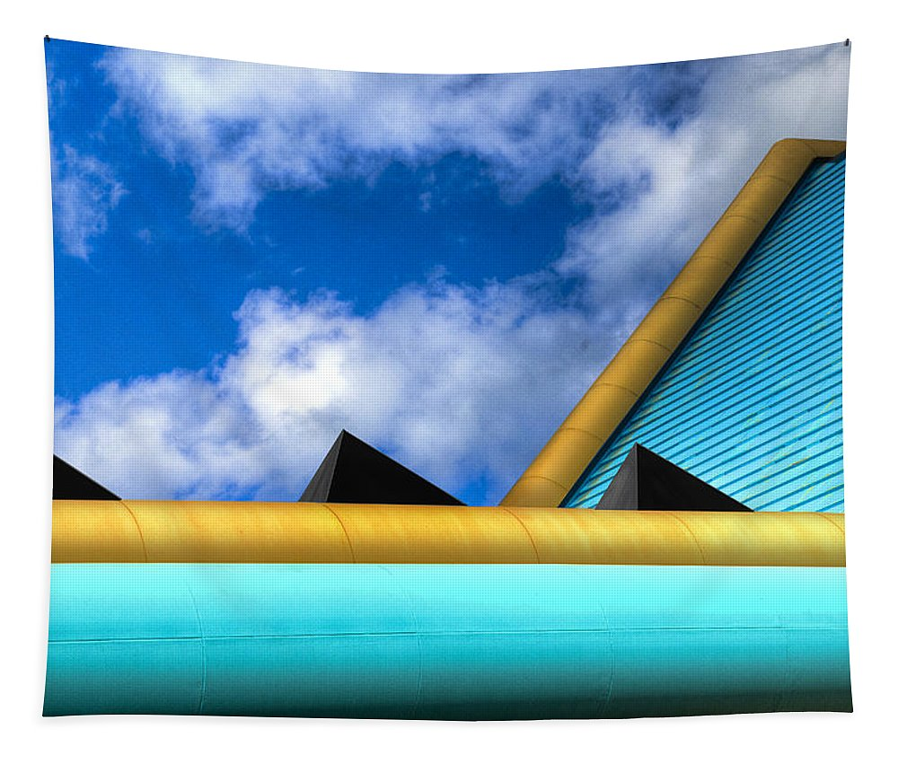 Turquoise Tapestry featuring the photograph Turquoise And Gold by Paul Wear