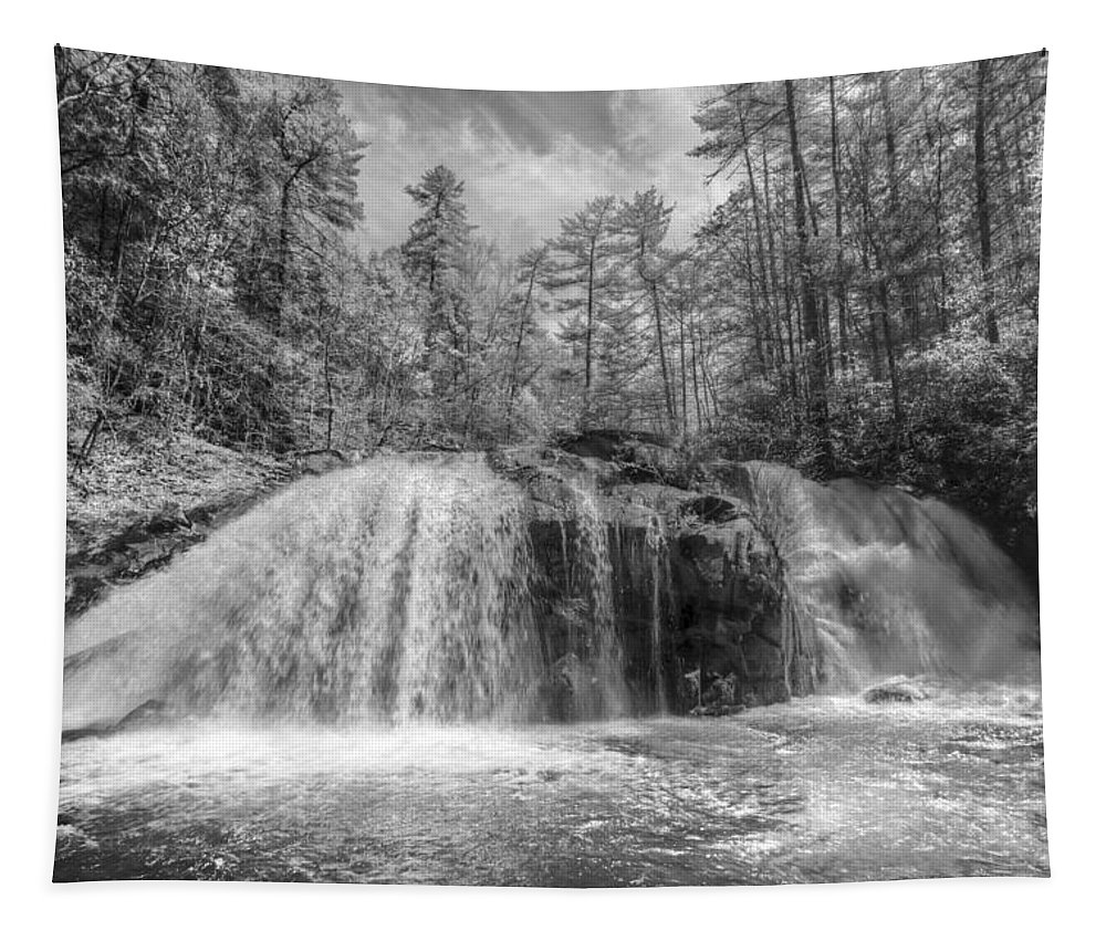 Appalachia Tapestry featuring the photograph Turtletown Creek In Black And White by Debra and Dave Vanderlaan