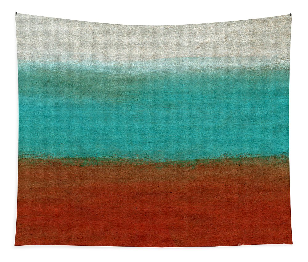Abstract Landscape Tapestry featuring the painting Tuscan by Linda Woods