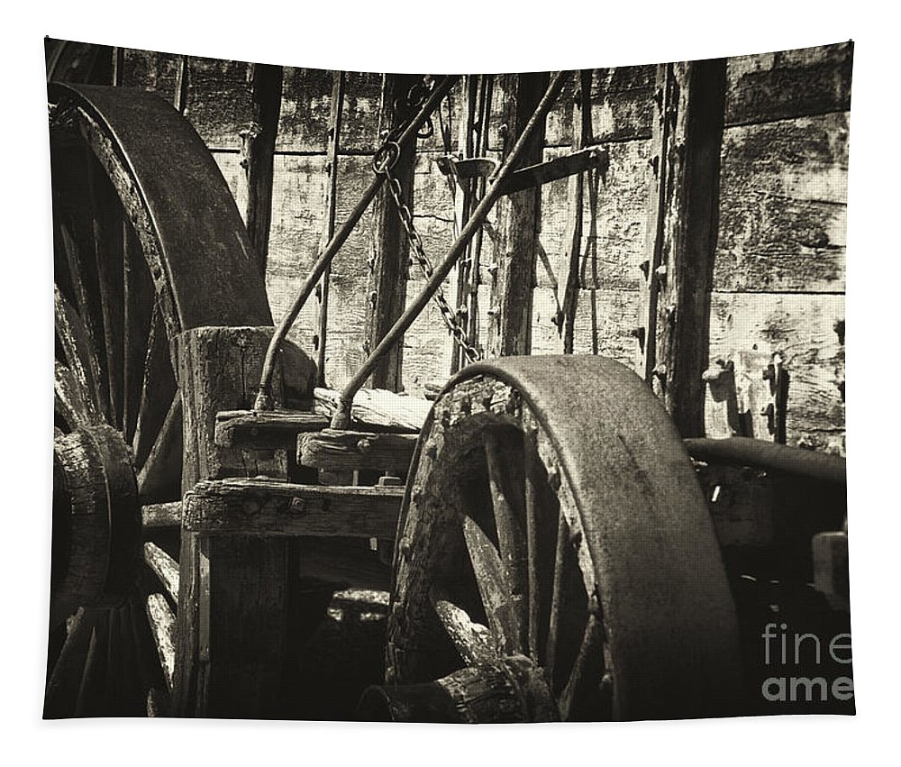 Wagon Tapestry featuring the photograph Twenty Mule Team Ore Wagon by Paul W Faust - Impressions of Light