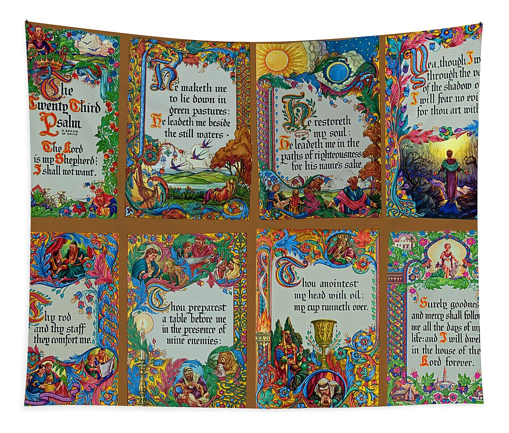 Holy Tapestry featuring the photograph Twenty Third Psalm Collage by Tikvah's Hope
