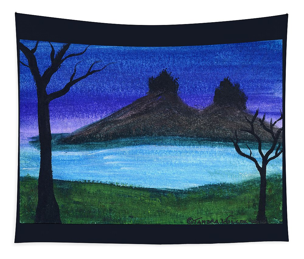 Castle Tapestry featuring the painting Twin Castles by Tambra Wilcox