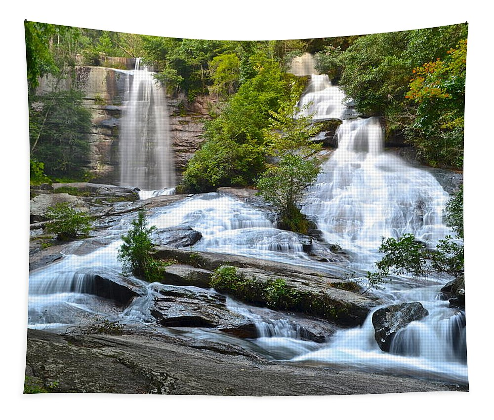 Twin Tapestry featuring the photograph Twin Falls by Frozen in Time Fine Art Photography