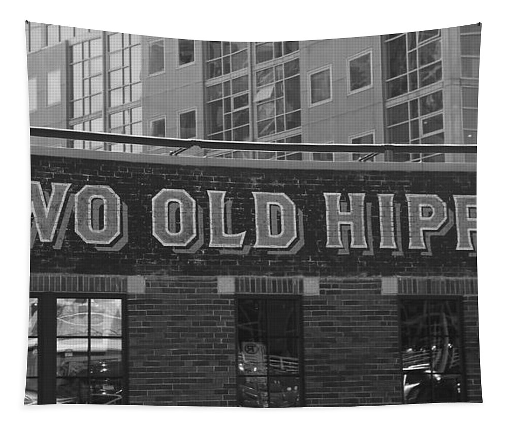 Two Old Hippies In Nashville Tapestry featuring the photograph Two Old Hippies In Nashville by Dan Sproul