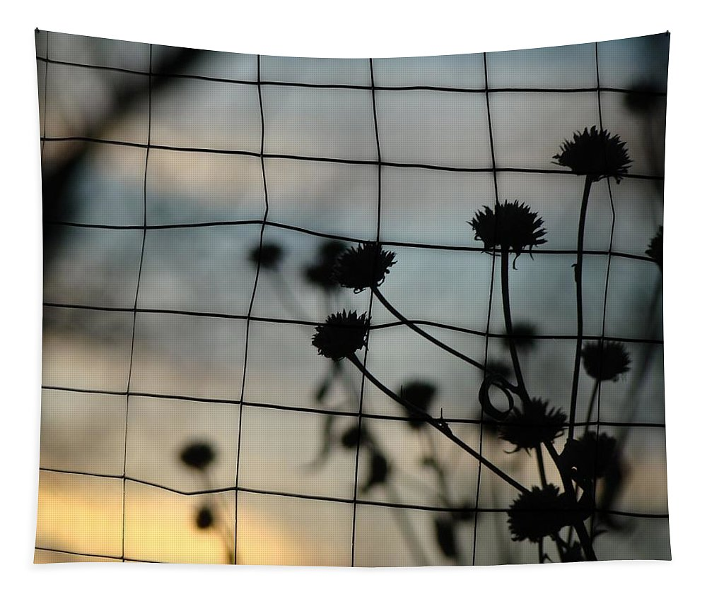 Flora Tapestry featuring the photograph Two Sides Of The Fence by Gothicrow Images