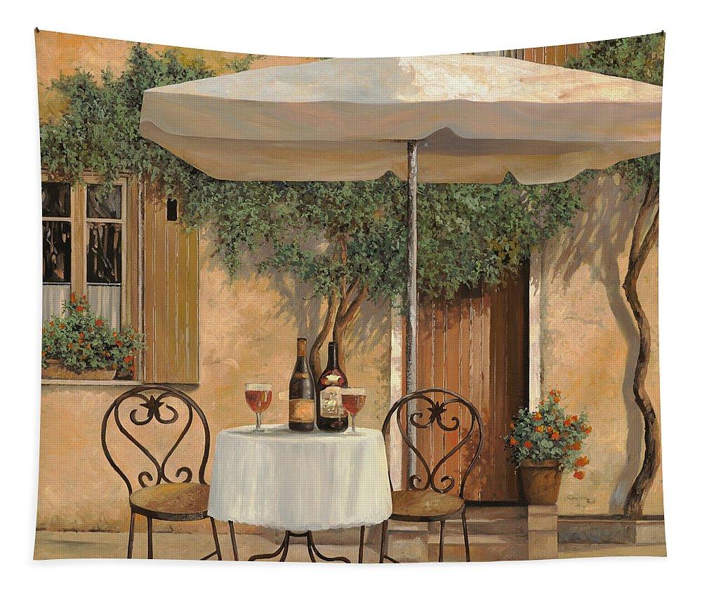 Chianti Tapestry featuring the painting Un Altro Bicchiere Prima Di Pranzo by Guido Borelli