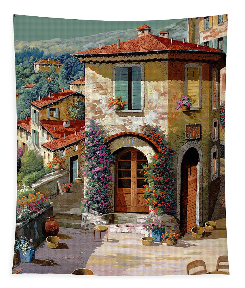 Light Green Sky Tapestry featuring the painting Un Cielo Verdolino by Guido Borelli