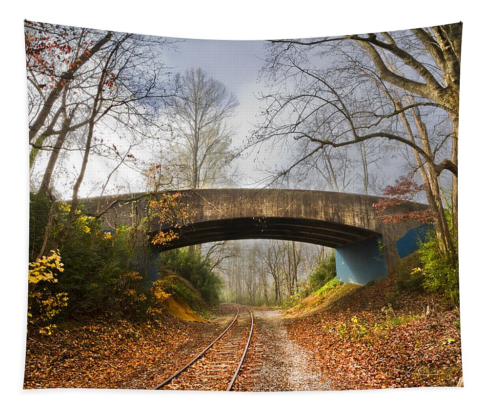 Appalachia Tapestry featuring the photograph Under And Over by Debra and Dave Vanderlaan