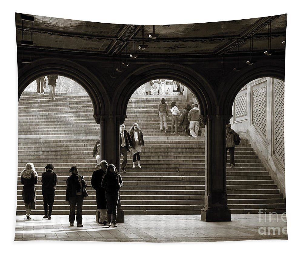 Newyork08 Tapestry featuring the photograph Under Bethesda Terrace by RicardMN Photography