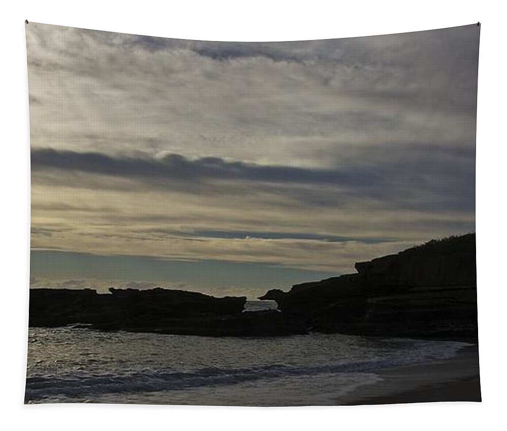 New Zealand Tapestry featuring the photograph Under The Overhang by Stuart Litoff