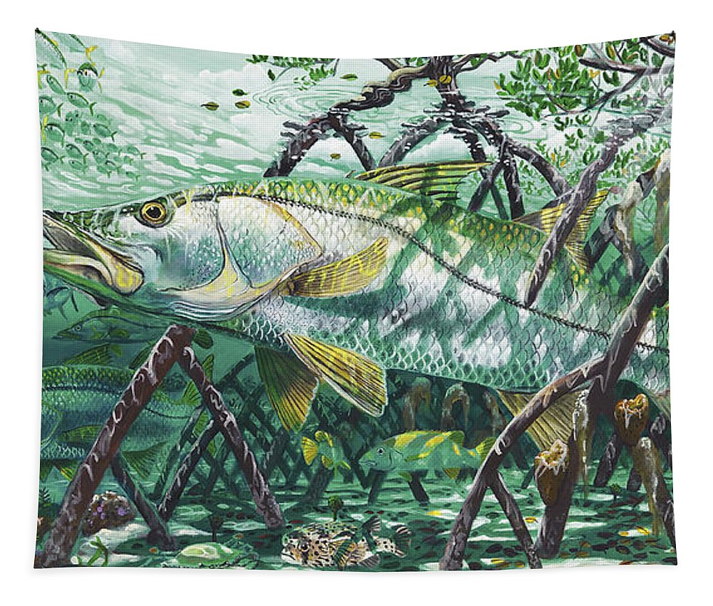 Snook Tapestry featuring the painting Undercover In0022 by Carey Chen