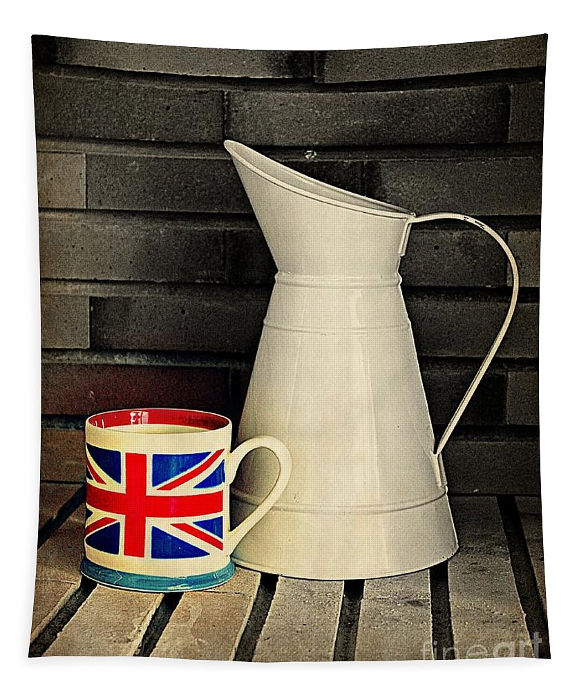 Union Jack Tapestry featuring the photograph Union Jack by Clare Bevan