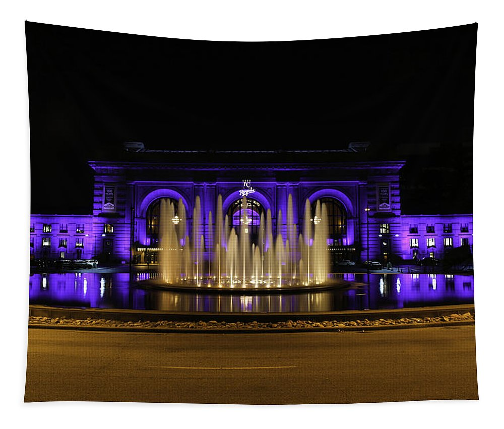 Union Station Tapestry featuring the photograph Union Station In Blue by Lynn Sprowl