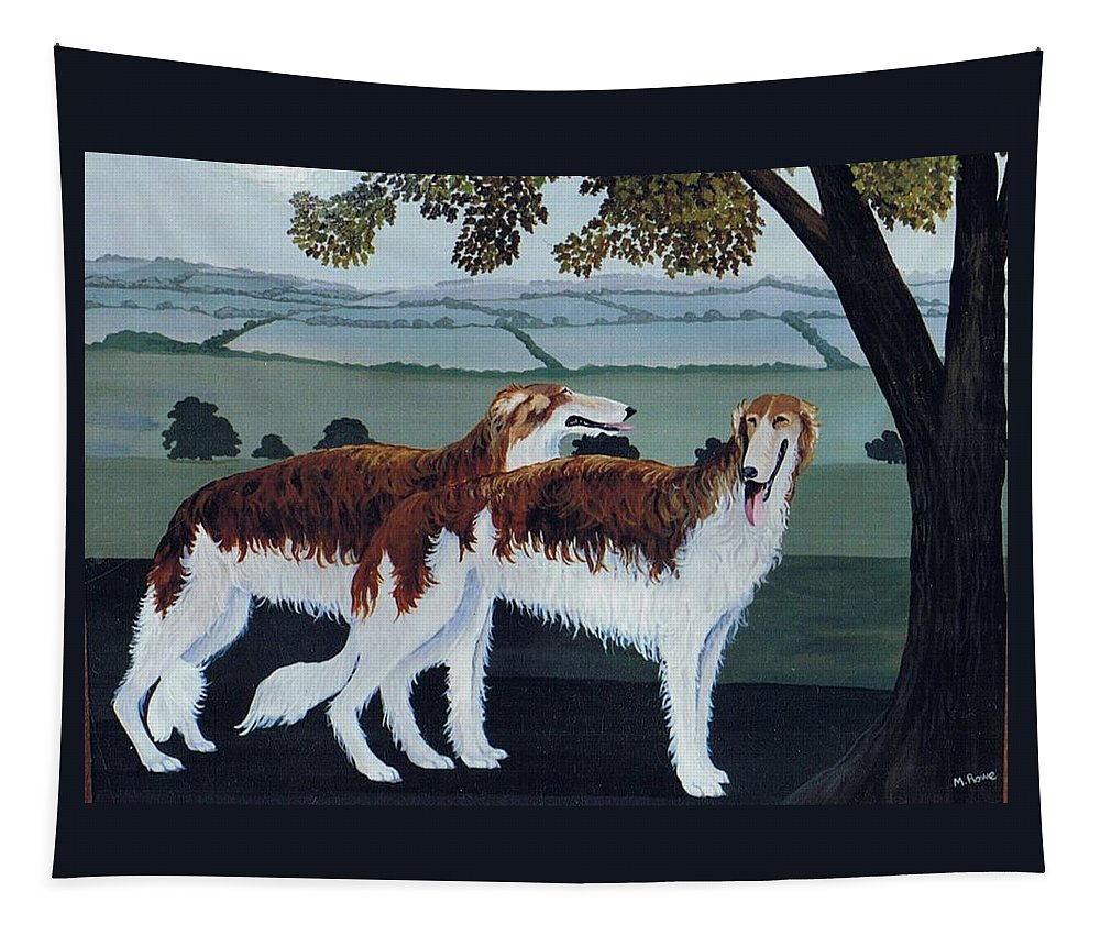 Borzoi Tapestry featuring the photograph Untitled by Maggie Rowe
