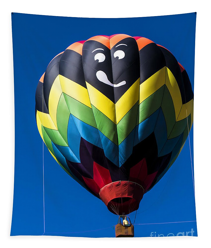 Balloon Tapestry featuring the photograph Up Up And Away In My Beautiful Balloon by Edward Fielding