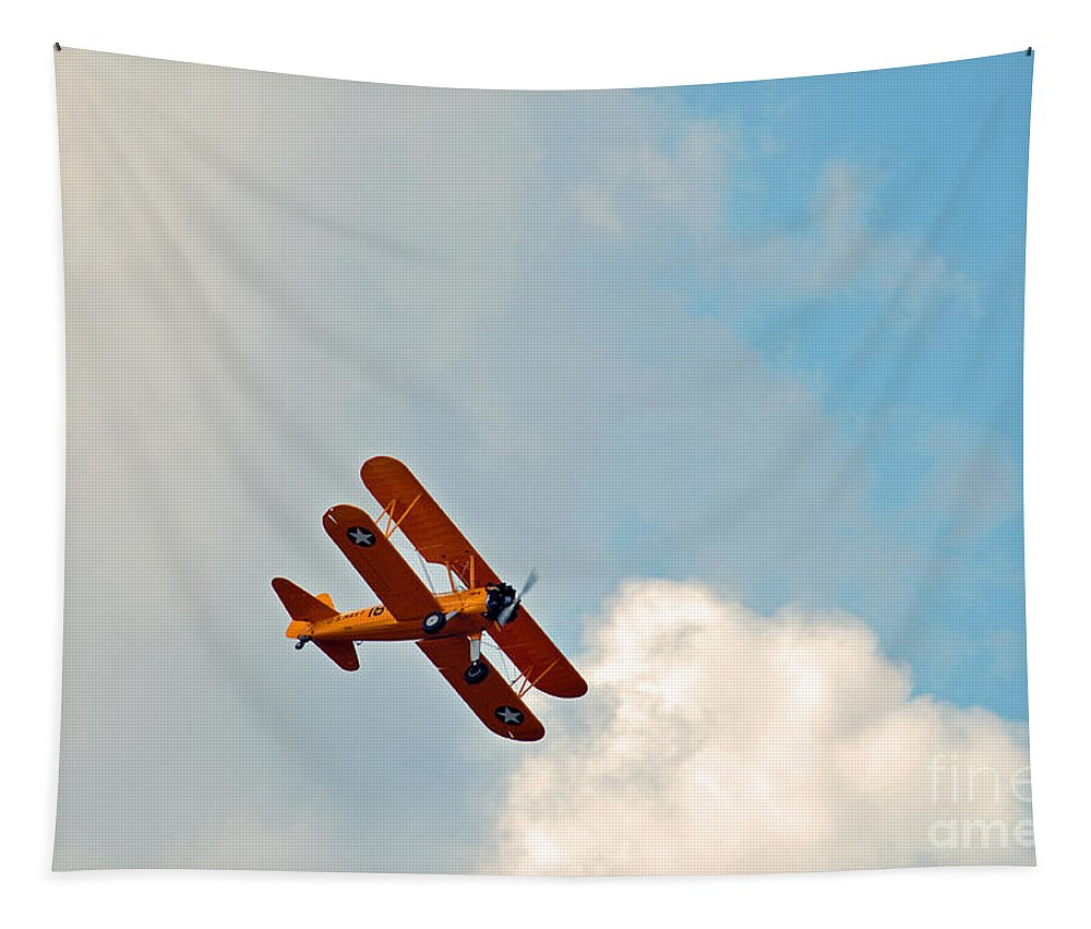 Www.vacwarbirds.org. Tapestry featuring the photograph Up Up In The Sky by Davids Digits