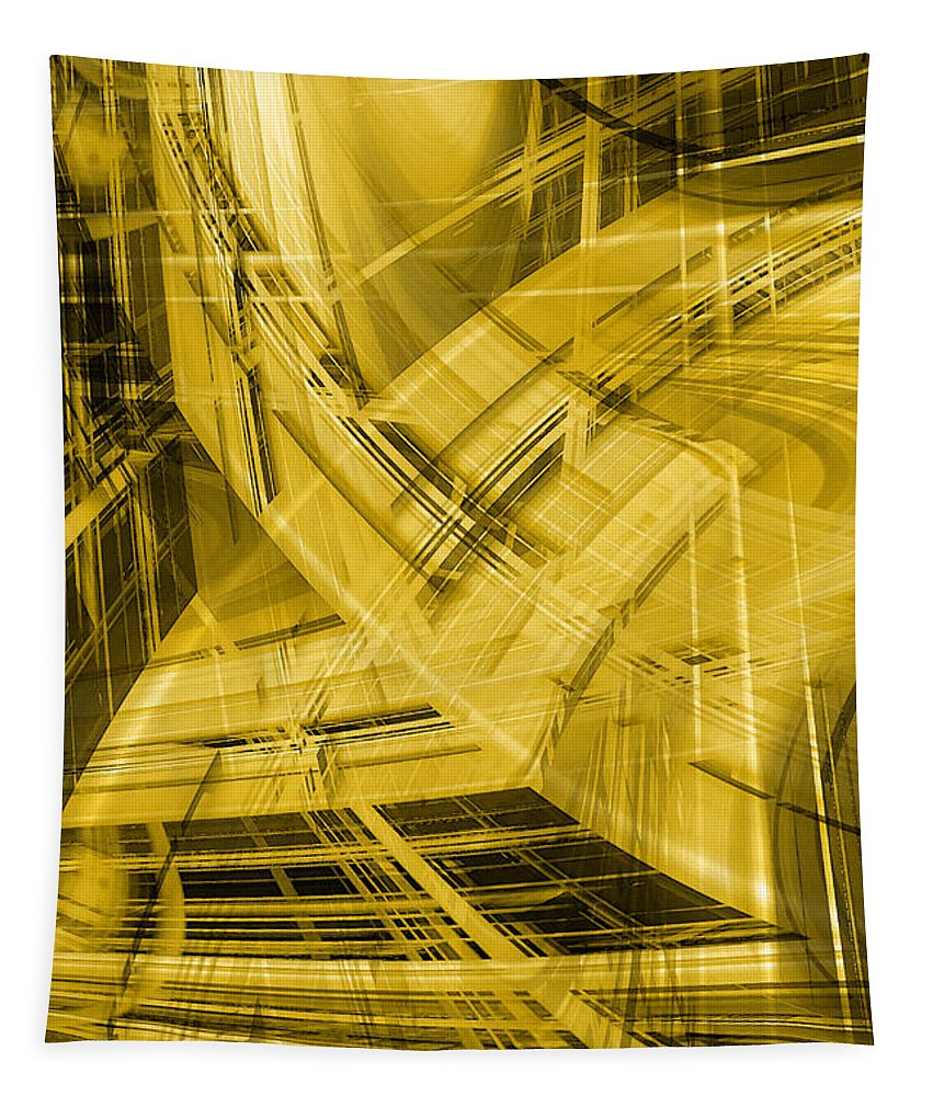 Abstract Tapestry featuring the digital art Upward by Steve Ball