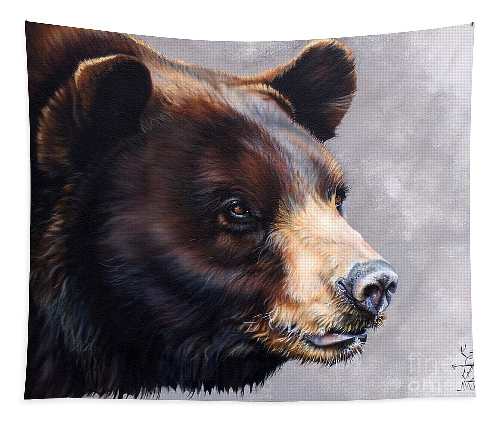 Bear Tapestry featuring the painting Ursa Major by J W Baker