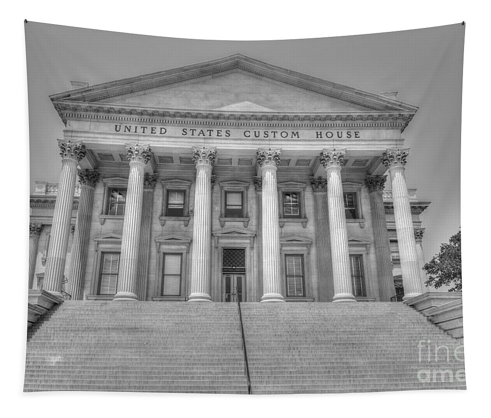 Us Customs House Tapestry featuring the photograph Us Customs House by Dale Powell