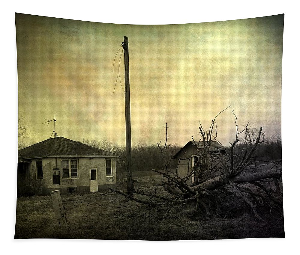 Abandoned Tapestry featuring the photograph Used To Be by Gothicrow Images