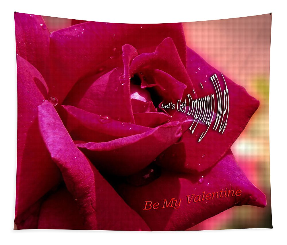 St. Valentine Tapestry featuring the photograph Valentine Dripping Wet by Thomas Woolworth