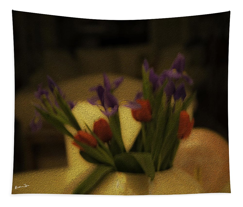Flowers Tapestry featuring the photograph Valentine's - The Day After by Madeline Ellis