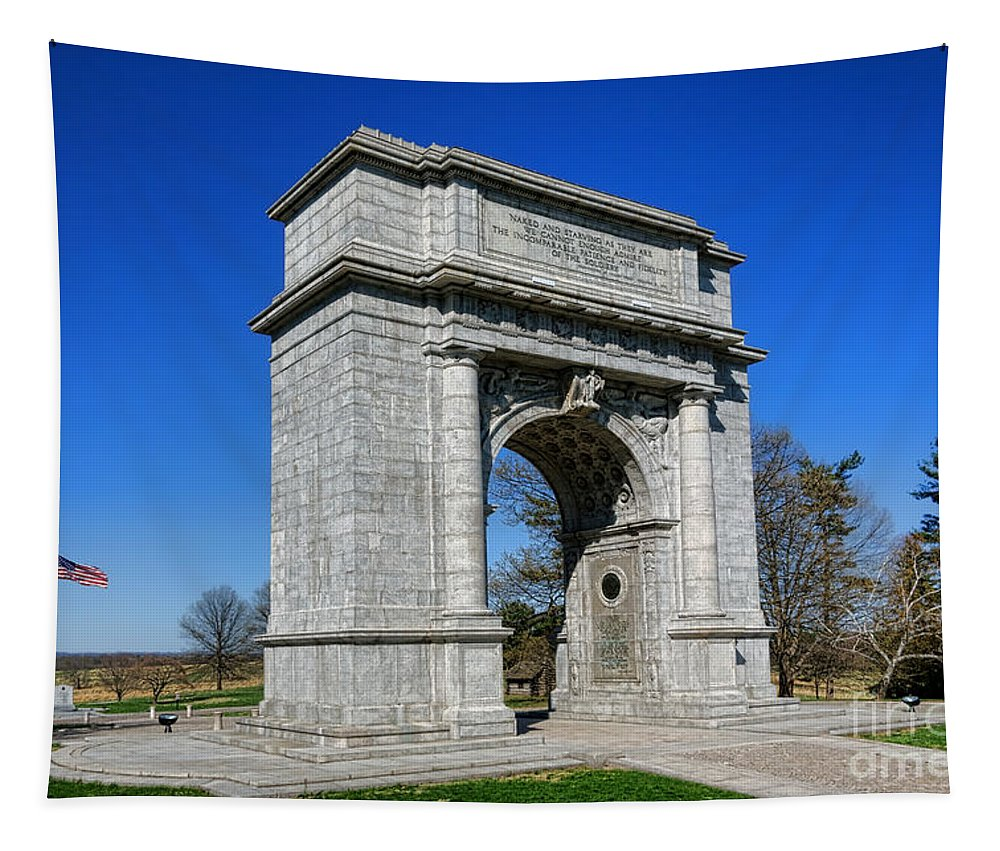 National Tapestry featuring the photograph Valley Forge National Memorial Arch by Olivier Le Queinec