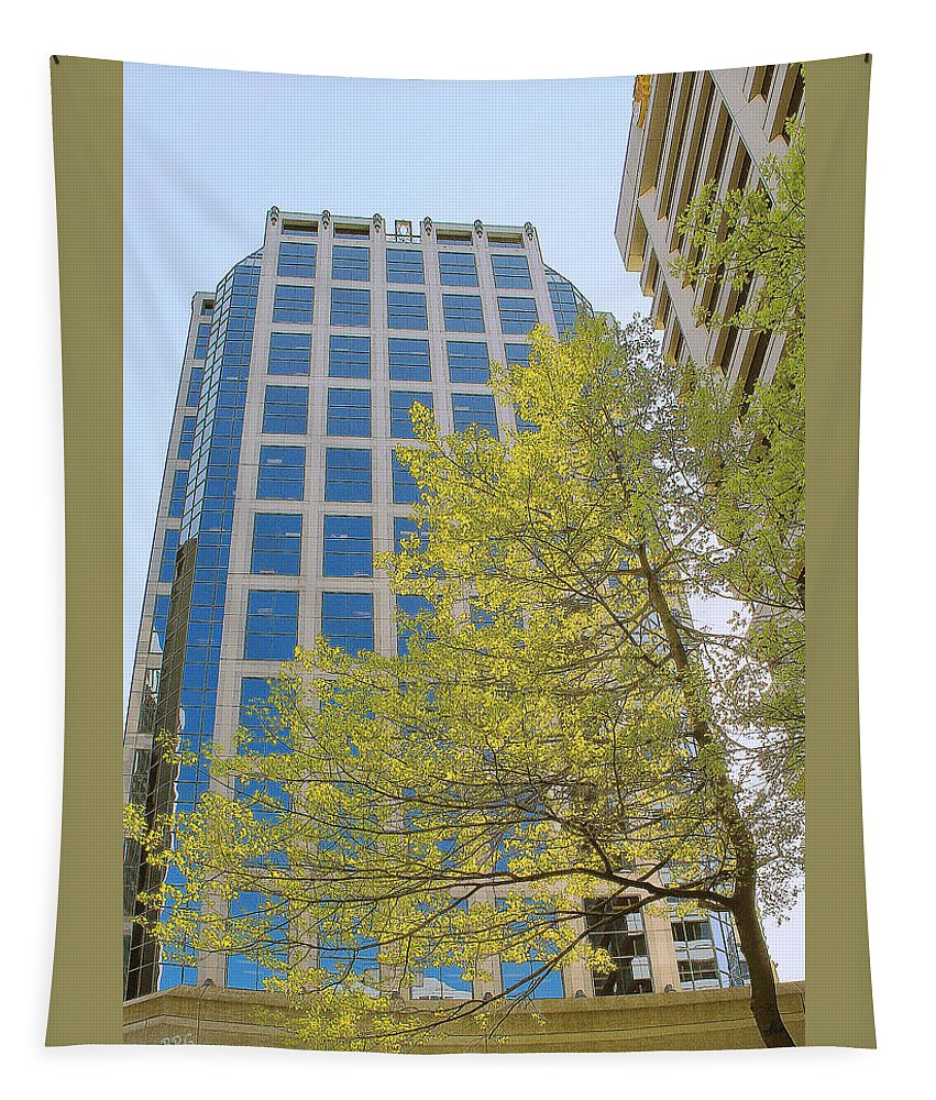 Architecture Tapestry featuring the photograph Vancouver Silhouettes No 1 by Ben and Raisa Gertsberg